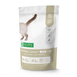 NATURE'S PROTECTION Сухой корм для молодых стерилизованных кошек Sterilised Junior 6-12 months Poultry with krill 400 г