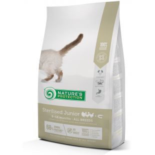 NATURE'S PROTECTION Сухой корм для молодых стерилизованных кошек Sterilised Junior 6-12 months Poultry with krill 2 кг