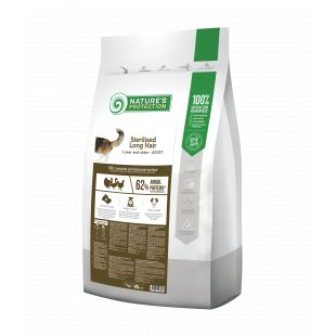 NATURE'S PROTECTION Сухой корм для стерилизованных кошек Sterilised Long Hair Adult 1 year and older Poultry 7 кг