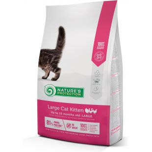 NATURE'S PROTECTION Large cat Kitten Poultry Up to 15 months old Large breed kuivtoit kassidele 2 kg