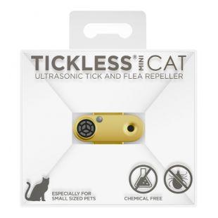 TICKLESS TickLess CAT ultraheliripats puukide ja kirbude tõrjumiseks, koertele ja kassidele kullavärvi