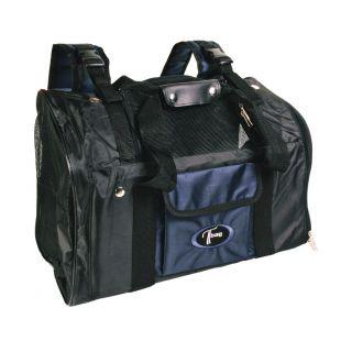 TRIXIE Рюкзак для перевозки животного чёрная/синяя, 44x21x30 см