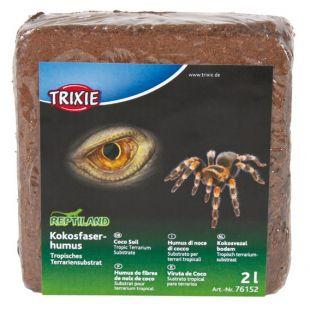 TRIXIE Подложка для террариума 9 л, кокосовые опилки (Faserhumus)