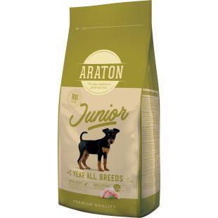 ARATON Сухой корм для собак Junior Poultry 15 кг