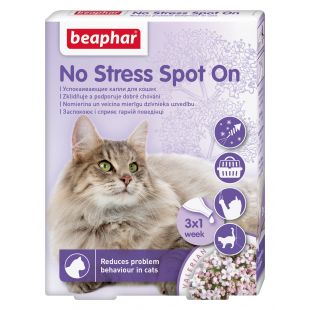 BEAPHAR No Stress Spot on Dog капли для кошек 1 пипетка x 3