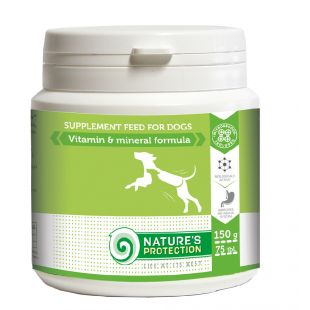"NATURE'S PROTECTION Vitamin & Mineral Formula t""iendsõõt koertele 150 g"