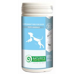 NATURE'S PROTECTION Puppy Minerals добавка для собак 100 г