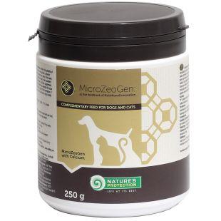 NATURE'S PROTECTION MicroZeoGen kaltsiumiga toidulisand koertele ja kassidele 250 g