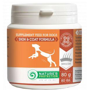 NATURE'S PROTECTION Skin & Coat Formula дпбавка для собак 80 г., 80 таблеток