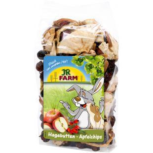 JR FARM Rose Hip Apple Chips toidulisand närilistele 125 g