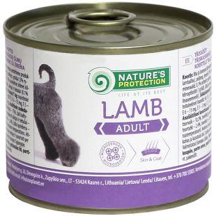NATURE'S PROTECTION Adult Lamb Консервы для взрослых собак 200 г x 6
