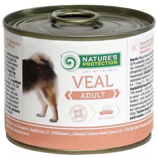 NATURE'S PROTECTION Adult Veal Konservid täiskasvanud koertele 200 g x 6
