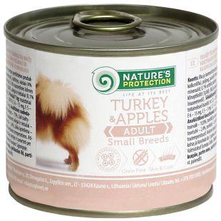 NATURE'S PROTECTION Small Breeds Turkey & Apples koerakonservid 200 g x 6