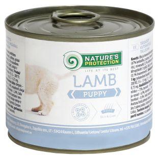 NATURE'S PROTECTION Puppy Lamb Консервы для щенков 200 г x 6