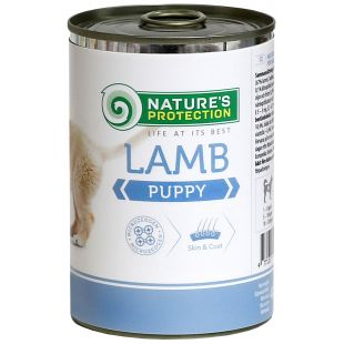 NATURE'S PROTECTION Puppy Lamb Консервы для щенков 400 г x 6