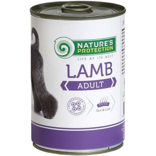 NATURE'S PROTECTION Adult Lamb Консервы для взрослых собак 400 г x 6