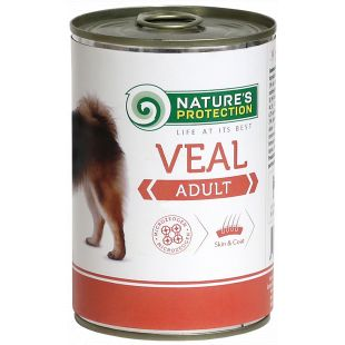 NATURE'S PROTECTION Adult Veal Konservid täiskasvanud koertele 400 g x 6