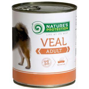 NATURE'S PROTECTION Adult Veal Konservid täiskasvanud koertele 800 g x 6