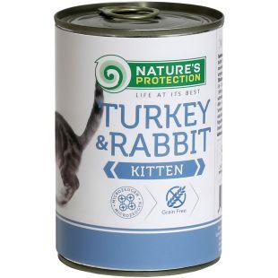 NATURE'S PROTECTION Kitten Turkey & Rabbit konservid kassipoegadele 400 g x 6