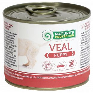 NATURE'S PROTECTION Puppy Veal Konservid kutsikatele 200 g x 6