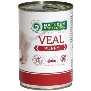 NATURE'S PROTECTION Puppy Veal Konservid kutsikatele 400 g x 6