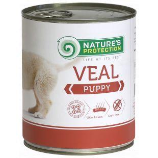 NATURE'S PROTECTION Puppy Veal Konservid kutsikatele 800 g x 6
