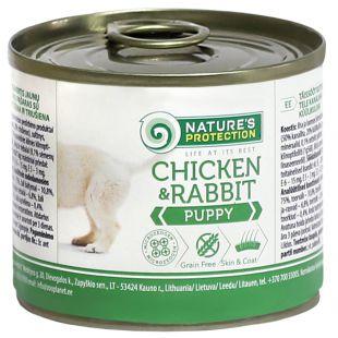 NATURE'S PROTECTION Puppy Chicken & Rabbit Консервы для щенков 200 г x 6