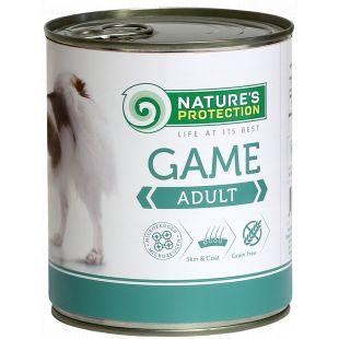 NATURE'S PROTECTION Dog Adult Game Konservid täiskasvanud koertele ulukilihaga 800 g x 6