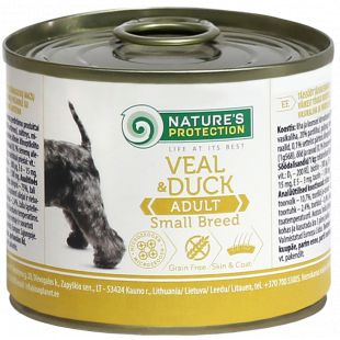 NATURE'S PROTECTION Adult Small Breed Veal & Duck Консервы для взрослых собак 200 г x 6