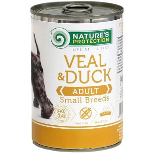 NATURE'S PROTECTION Adult Small Breed Veal & Duck Консервы для взрослых собак 400 г x 6