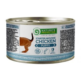 NATURE'S PROTECTION Puppy Starter Mousse Chicken konservid kutsikatele 200 g x 6