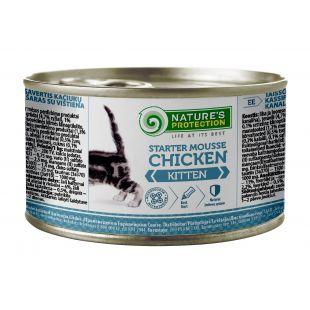 NATURE'S PROTECTION Kitten Starter MouЯe Chicken консервы для котят 200 г x 6
