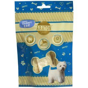 ARATON Лакомство для собак, Сушеные кроличьи уши 20 г