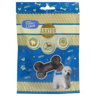 ARATON Лакомство для собак, Сушеные легкие кролика 20 г