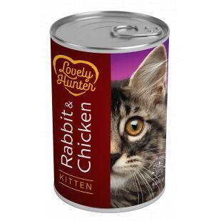 LOVELY HUNTER Kitten Rabbit & Chicken konservid kassipoegadele 400 g