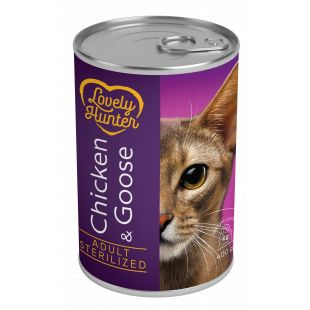 LOVELY HUNTER Sterilized cat chicken and goose консервы для кошек 400 г