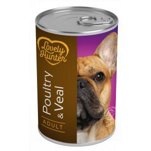 LOVELY HUNTER Adult Poultry & Veal Konservid täiskasvanud koertele 400 g x 6