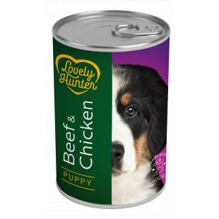 LOVELY HUNTER Puppy Beef & Chicken Konservid kutsikatele 400 g