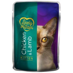 LOVELY HUNTER Kitten konservid kassipoegadele linnu- ja lambalihaga 85 g