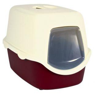 TRIXIE Туалет-дом 40x40x56cм с дверцей,бордо/кремовый