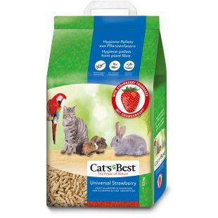 JRS Cats Best Universal Strawberry наполнитель для кошачьего туалета, древесный 10 л x 2