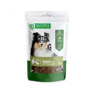 NATURE'S PROTECTION närimismaius koertele küülikutükid tšiiaseemnetega, 75 g