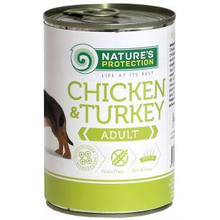 NATURE'S PROTECTION Adult Chicken & Turkey Konservid täiskasvanud koertele 400 g x 6