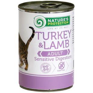 NATURE'S PROTECTION Cat Sensible Digestion Turkey&Lamb kassikonservid 400 g x 6