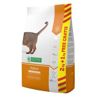 NATURE'S PROTECTION Indoor корм для кошек 2+1 кг
