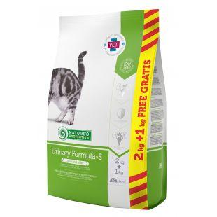 NATURE'S PROTECTION Urinary Formula-S корм для кошек 2+1 кг