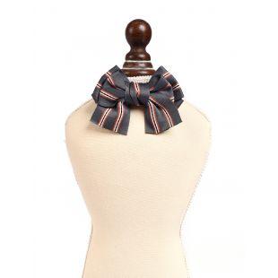 CHEE PET Бантик Paw Couture с полосками M, серый