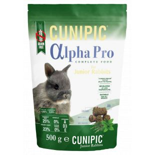 CUNIPIC Alpha Pro Junior toit noortele küülikutele 500 g