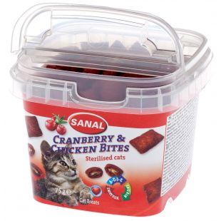 SANAL Cat Cranberry & Chicken Bites Cup кормовая добавка для кошек с клюквой и курицей 75 г