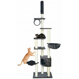 TRIXIE Madrid  Когтеточка для кошек серая, 68x44x245/270 см